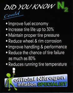 Learn More About Nitrogen Tire Inflation Brochure